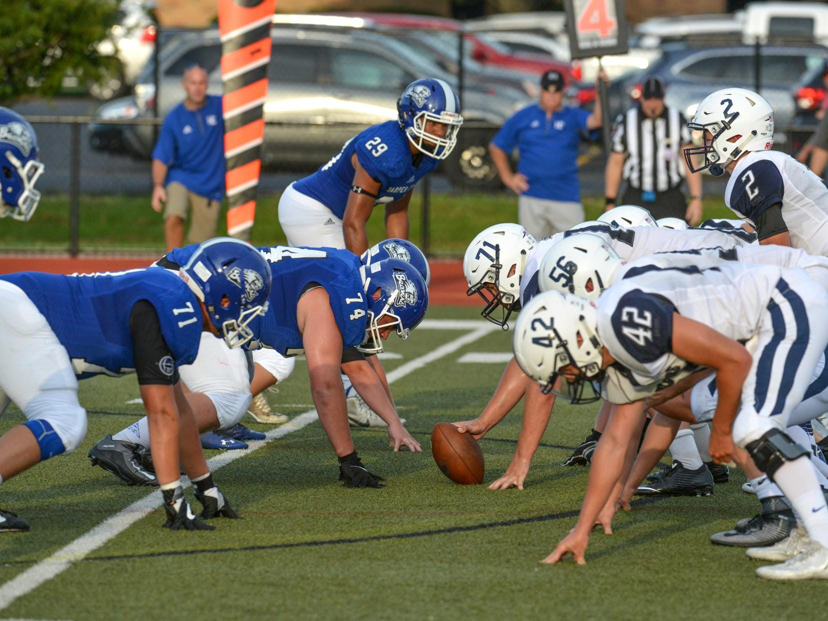 Harper Creek and Gull Lake in game action Friday night.