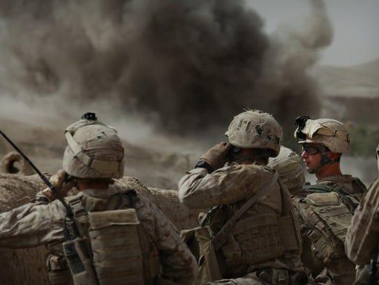 Marines in Afghanistan in 2010.