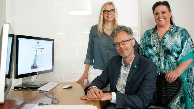 Raina Lee Scott, left, Christopher Craig, center, and Annika Schauer have started Beeswax Websites which allows Etsy users to easily create their own websites for their products. The site is scheduled to launch June 21.