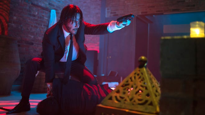 "Keanu Reeves plays John Wick in a scene from the film, ""John Wick."""