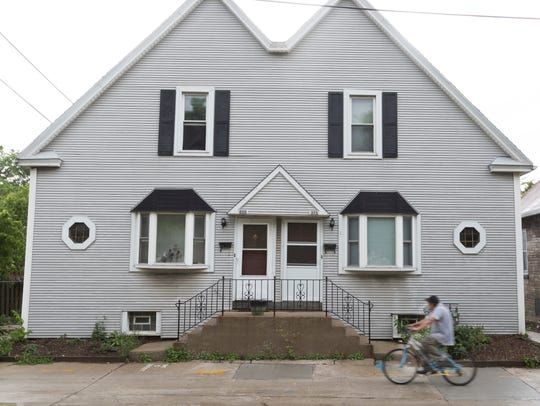 This duplex at 310-312 E. Acher Ave., along with the