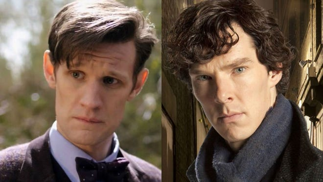 "Matt Smith from ""Doctor Who"" and Benedict Cumberbatch from ""Sherlock."""