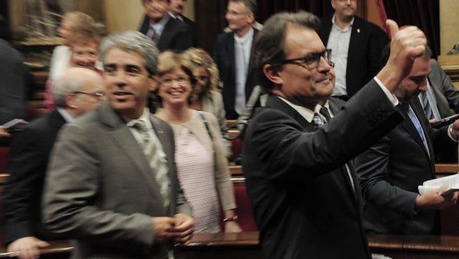 President of the Catalonian regional government Artur Mas, right.