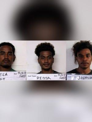 NPJ Resa, Elevenson Ressa and Joshua Joshua are shown in this combined photo
