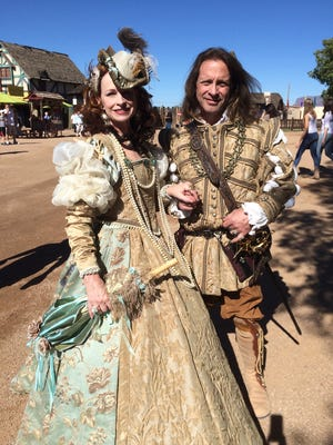 Lady Jane Ivanhoe (Mary Wilson) and Lord Blackwolf Nursingham (Alan Hoffmann), both of Phoenix,   plan to attend the festival each weekend in different costumes. It's what they do.