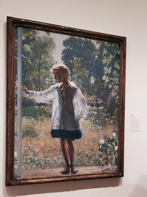 """A replica of """"Tanis"""" (1915) by Daniel Garber will be on display at the Kings Court gazebo in Haddonfield."""