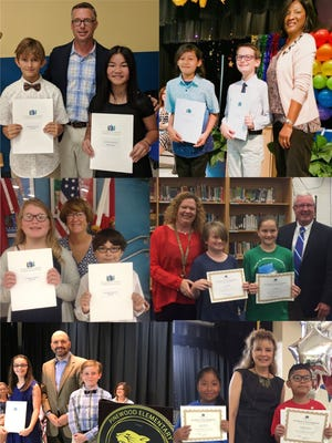 The 2018 Young Literary Leaders Award winners, clockwise from top left, are Luke Reyburn and Addison Monaco, Jensen Beach Elementary; Eva Sanchez and Charles Woodward, Seawind Elementary; Aidan Flores and Sara Kautz, Felix A. Williams Elementary; Yojana Mendoza and Luis Perez-Moreno, Warfield Elementary; Camryn Bruno and Gerald Garner, Pinewood Elementary; Alyxia Garza and Jared Baer, Port Salerno Elementary. Not pictured: Micaela Cristoforo and Zachary Rekowski, Bessey Creek Elementary; Jaime Garcia and Bryar Stoney, Citrus Grove Elementary; Emilee Ault and Jacob Tremblay, Crystal Lake Elementary; Chase Burr and Areon Dames, Hobe Sound Elementary; Lexie Laverty and Nico Rocha, J.D. Parker Elementary; Vivian McCollough and Reis Elenbass Smith, Palm City Elementary.