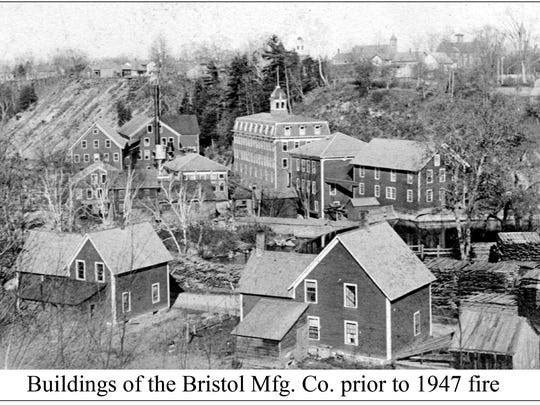Buildings of the Bristol Manufacturing Co. prior to the 1947 fire.