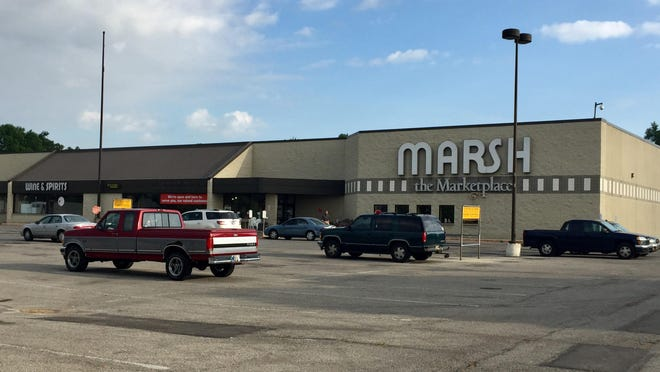 The parking lot was mostly empty outside the Broad Ripple Marsh store on Tuesday morning.
