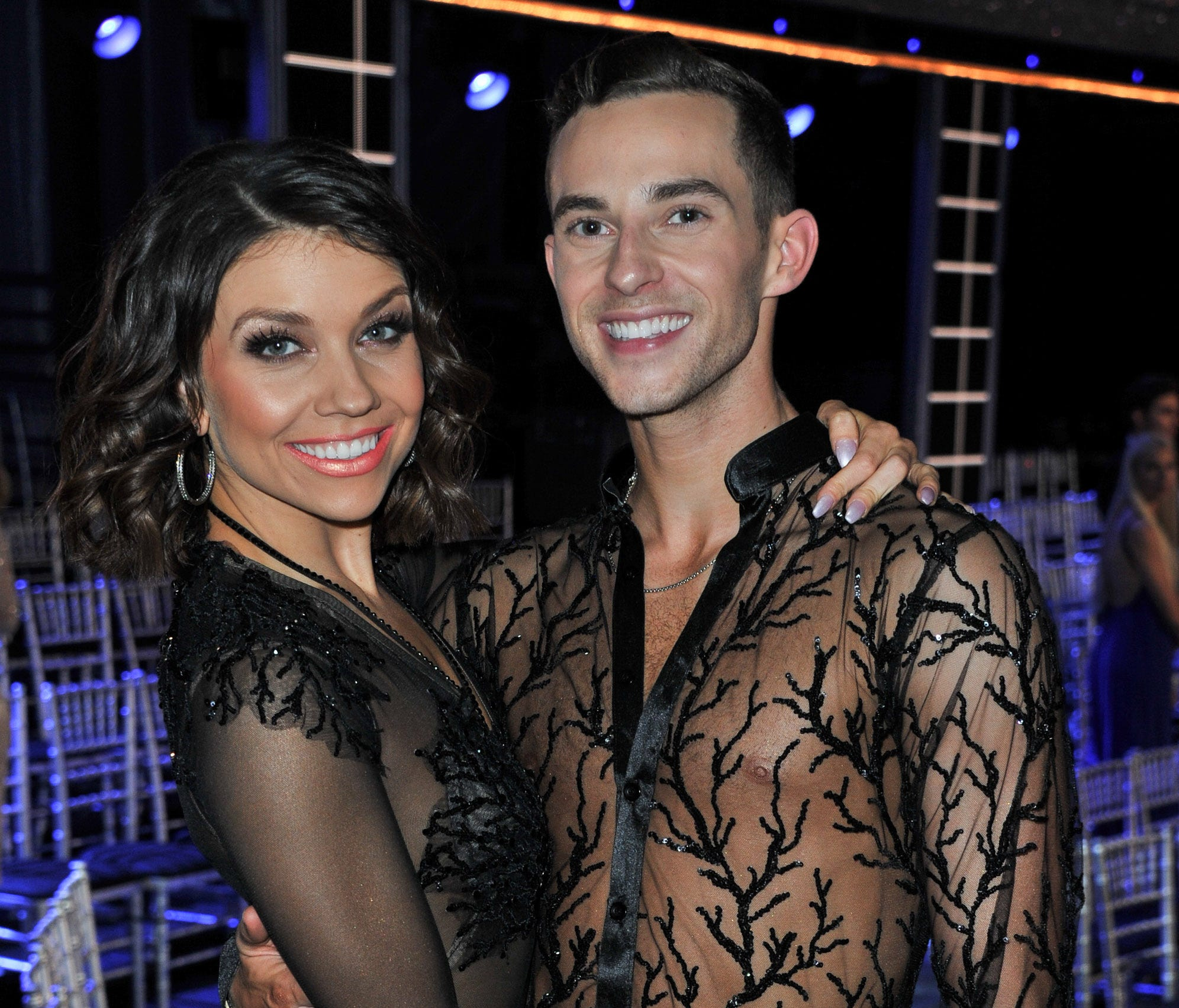 Adam Rippon and Jenna Johnson attend ABC's