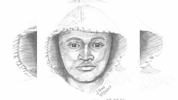 A sketch of a man police say is groping women walking or jogging alone in College Hill