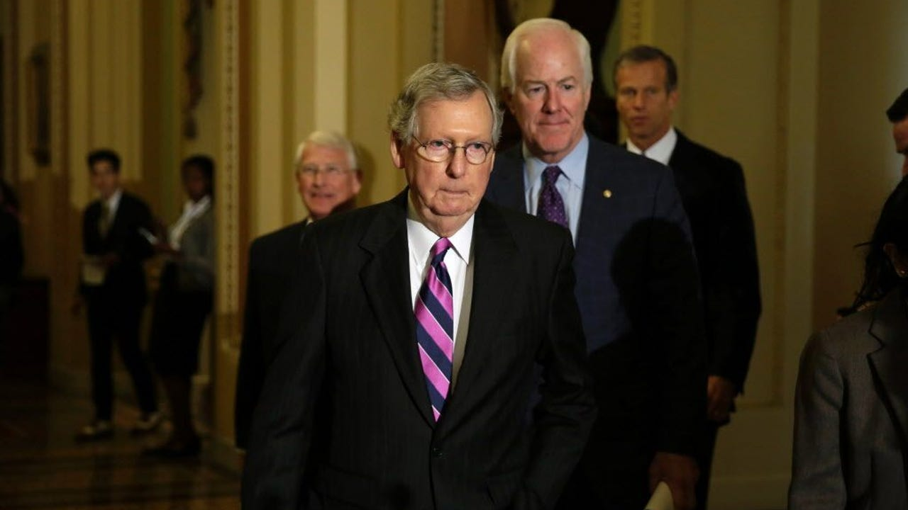 Senate Majority Leader Mitch McConnell said Tuesday that the vote will be delayed on the Senate version of the GOP health bill as members continue to work out the details. (June 26)