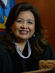 Chief Judge Frances Tydingco-Gatewood is shown in her courtroom at the District Court of Guam in Hagatna on March 4.
