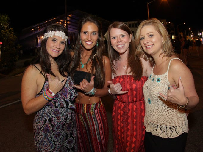 Fans enjoy the 2014 Hangout Music Fest's Kickoff Party Thursday night.