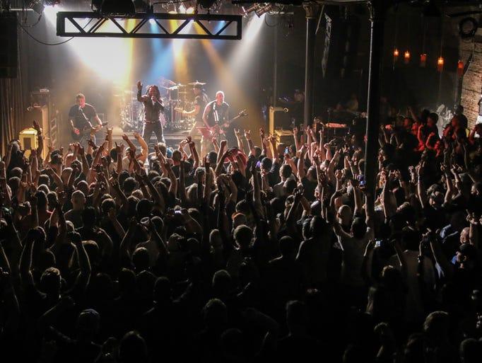 Sevendust performs at Vinyl Music Hall Monday night.