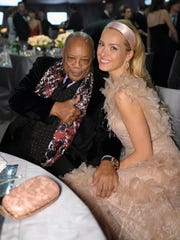 Record producer Quincy Jones and model Petra Nemcova