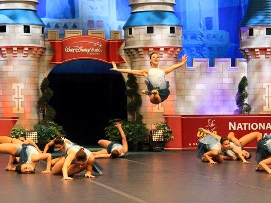 The STM Sparklers perform a jazz routine at the UDA national championships in Orlando, Florida this weekend.