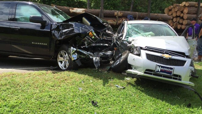 Five people were taken to the hospital Wednesday morning after a three-vehicle crash on La. Highway 9 near Campti, according to the Natchitoches Parish Sheriff's Office.