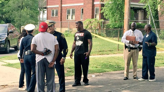 The Cincinnati Police Department revealed in late June that it has incomplete data on gang involvement in shootings. That's a concern as Cincinnati seeks to stem a 30 percent increase in gun violence this year. Shown, Chief Jeffrey Blackwell is among those at the scene of a fatal shooting in Bond Hill in late May.