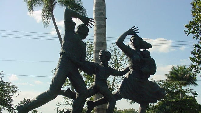 A statue in Belle Glade, Florida commemorating the 1928 hurricane.