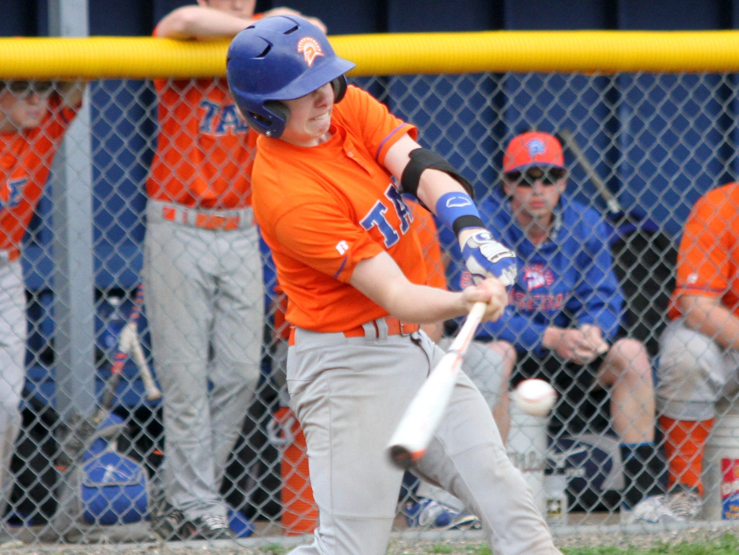 Edison's Josh Cosgrove connects for a hit against Notre Dame during the 2015 season.