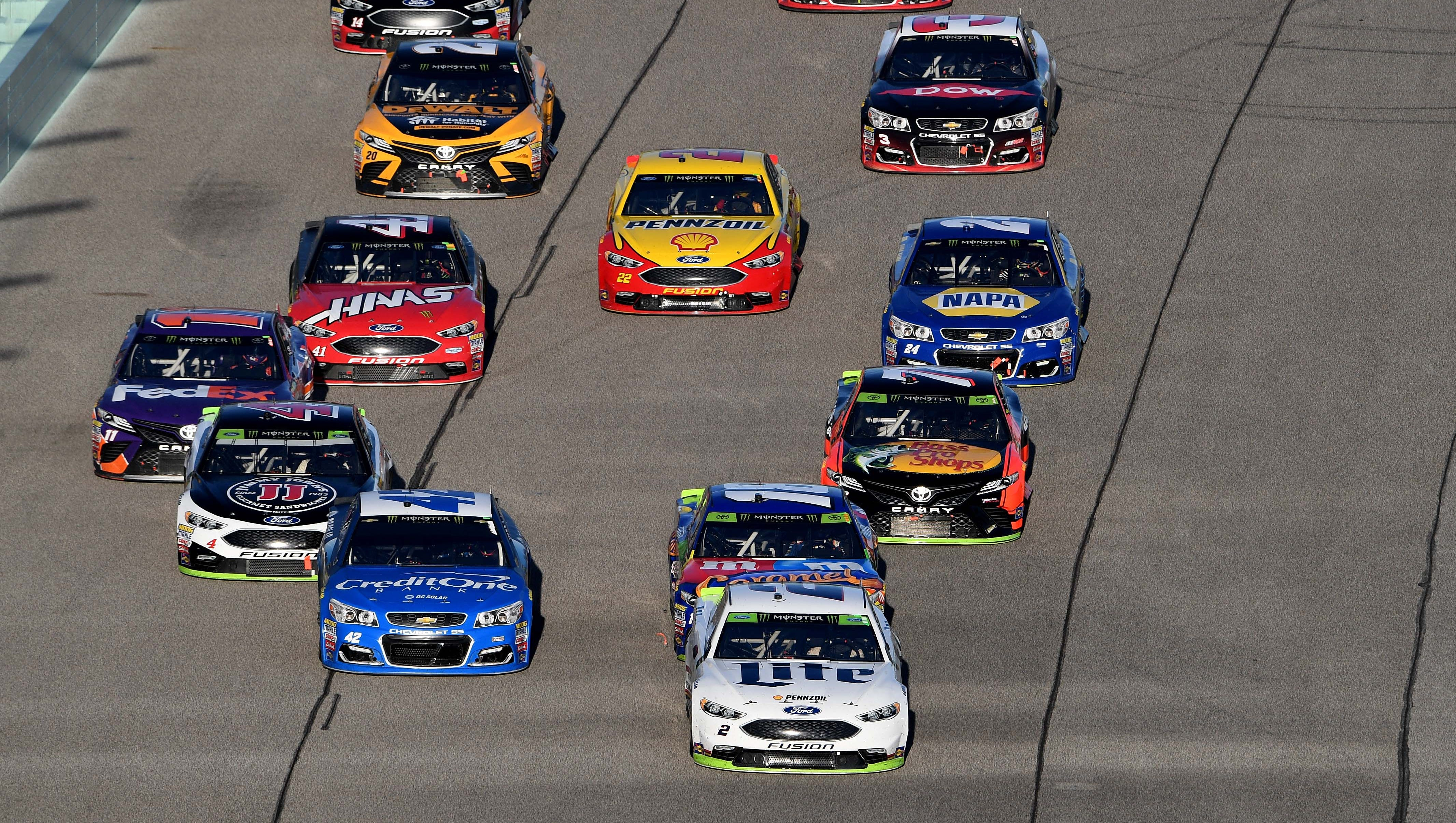 nascar stage lengths for every 2018 cup series race