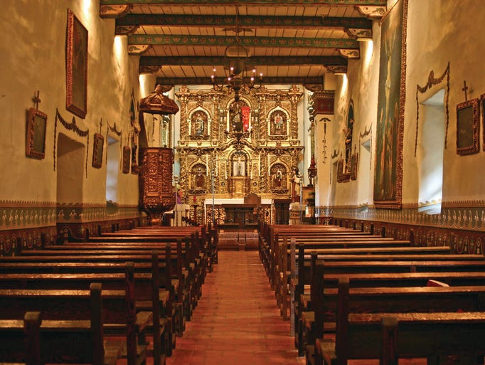 31. Built in 1782 - Mission San Juan Capistrato - San