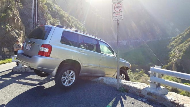 A photo from the Los Angeles County Sheriff's Department shows the scene of an April 2 accident.