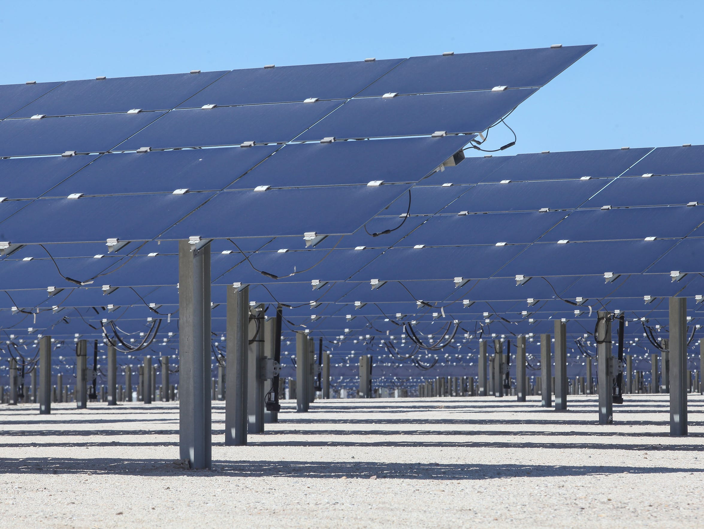 Solar panels soak up the sun at the 50-megawatt Seville