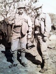 Bill Kueht (left) and Ken Kreiter were in the service