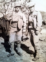 Bill Kueht (left) and Ken Kreiter were in the service together during World War II.