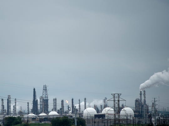 Refineries are seen in the aftermath of Hurricane Harvey