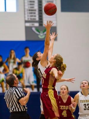 3A Basketball Tournament: Cedar vs Desert Hills, Saturday, Feb. 25, 2017, in Logan, Utah. Final score: DHHS 35, CHS 32.