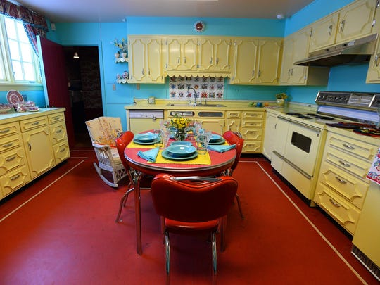 Upstairs 50s kitchen