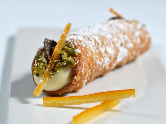 Cannoli with pistachio dust rank among the sweets being served at the Vintage Eldorado tasting Oct. 7 in the Reno Ballroom.