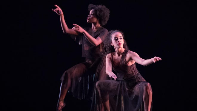 """Dance Theatre of Harlem artists Ingrid Silva and Alison Stroming pictured in the number """"Change."""""""
