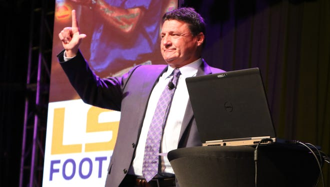 LSU Head Coach Ed Orgeron and the LSU Caravan come to Horseshoe Bossier City to meet some fans and have dinner on Monday night, April 23.