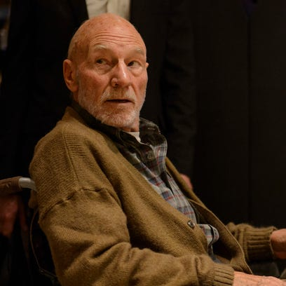 Patrick Stewart gives the dirt on his Poop Emoji and shocking 'Logan' role