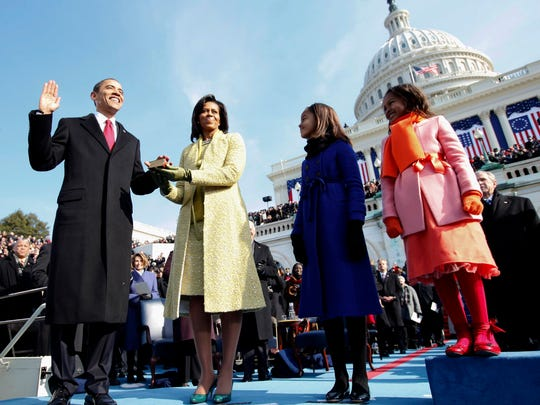 FILE - In this Jan. 20, 2009, file photo, Barack Obama,
