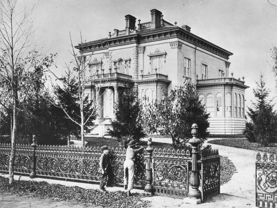 Captain Eber Brock Ward's mansion on W. Fort Street