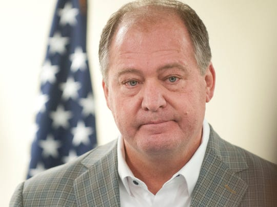 Former Kentucky Speaker of the House Jeff Hoover, voice often choked with emotion, resigned Nov. 5, 2017, from his leadership post at a press conference in the State Capitol. Hoover said he plans to continue representing his constituency in the Kentucky House's 83rd legislative district.