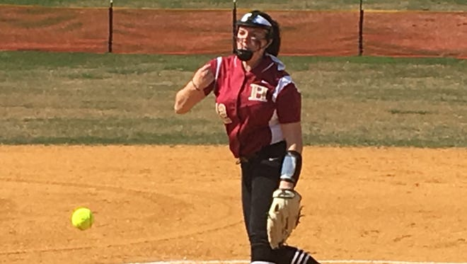 Hillsborough righty Courtney Wengryn led her team to its sixth straight victory to start the season Saturday at Voorhees