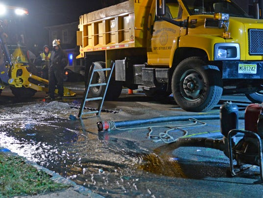 Water main break on Maolis Avenue in Bloomfield