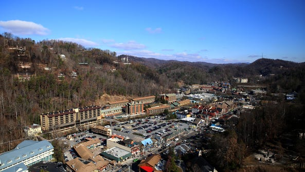 Gatlinburg is visible from the Space Needle on Friday