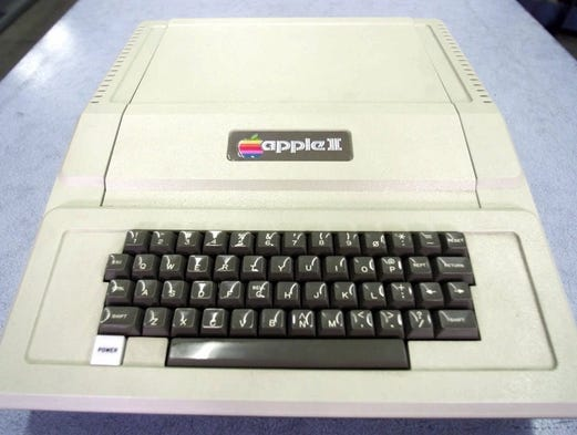 The Apple II computer,