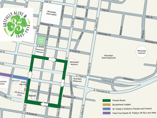 Hal's St. Paddy's Parade route for 2018.