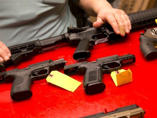"""Paul Sollitti, owner of """"NJ Arms"""" gun shop in Ocean,"""