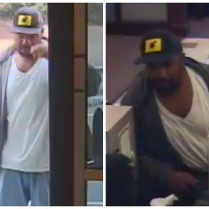 Surveillance images of the Commerce Bank robbery suspect.