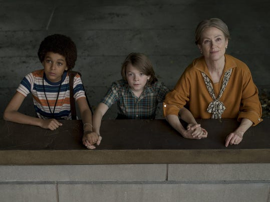Jaden Michael, Oakes Fegley, and Julianne Moore, WonderStruck