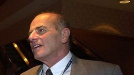 Former County Executive Alfred DelBello at the New York state Democratic Convention in Manhattan on May 23, 2002